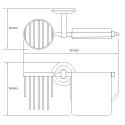 K-6259 Держатель туалетной бумаги и освежителя