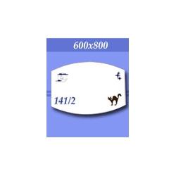 Зеркало в ванную зг141/2ф 800х600мм