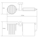K-9459 Держатель туалетной бумаги и освежителя