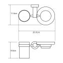 K-9426 Держатель стакана и мыльницы