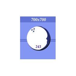 Зеркало в ванную зг243 синее 700х700мм