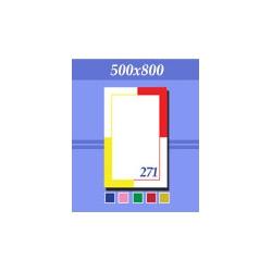 Зеркало зг271 желто-красное 500х800мм