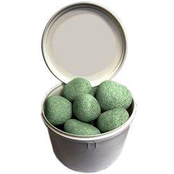 камни для бани Жадеит шлифованный средний 20 кг