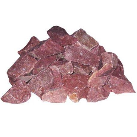 камни для бани Малиновый Кварцит (Парфир) колотый 20 кг