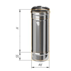 дымоход 0,5м ф120 н.439/0,8мм