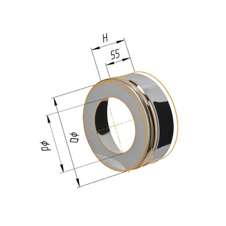 заглушка с отверстием для сэндвича ф110/200 н.430/0,5мм