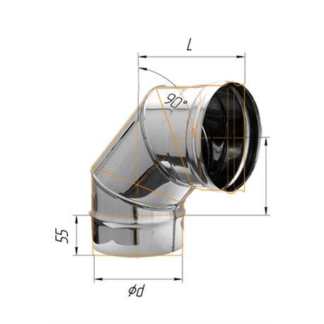 колено угол 90гр ф120 н.430/0,5мм