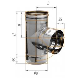 тройник-Д 90гр ф120 н.430/0,8мм