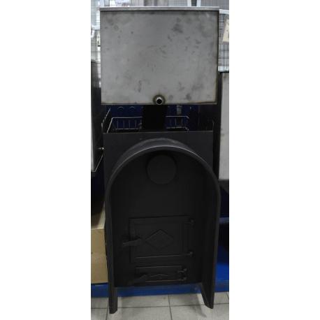 Печь для бани Прямая с аркой и баком - общий вид | zz-c.ru