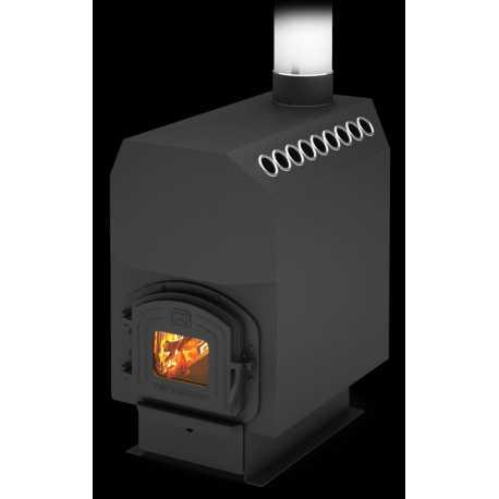 печь для отопления ТОП-300 ДЧ - вид спереди