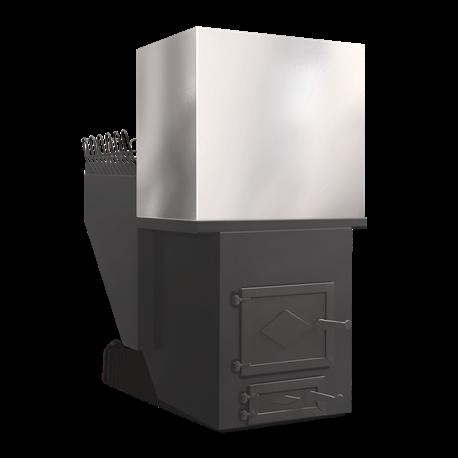 Печь для бани Паровоз-1 с баком - общий вид | zz-c.ru