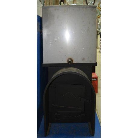 Печь для бани Паровоз-1 с аркой и баком - вид спереди | zz-c.ru