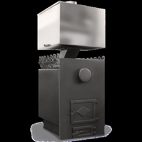 Печь для бани Прямая с баком - общий вид | zz-c.ru
