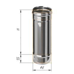 дымоход 0,5м ф110 н.430/0,5мм