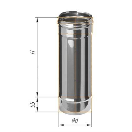 дымоход 0,5м ф120 н.430/0,5мм