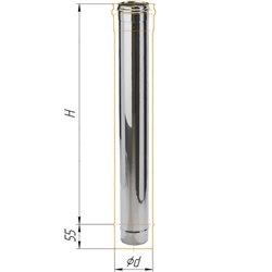 дымоход 1м ф120 н.439/0,8мм