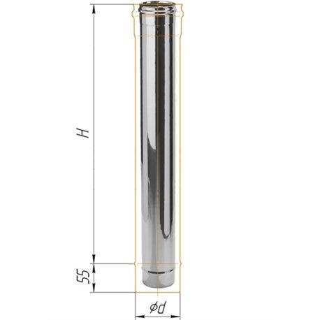 дымоход 1м ф200 н.430/0,5мм