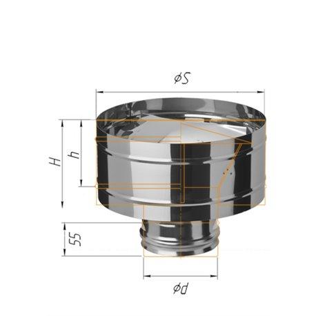зонт-Д с ветрозащитой ф115 н.430/0,5мм