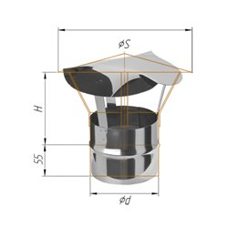 зонт-Д ф110 н.430/0,5мм