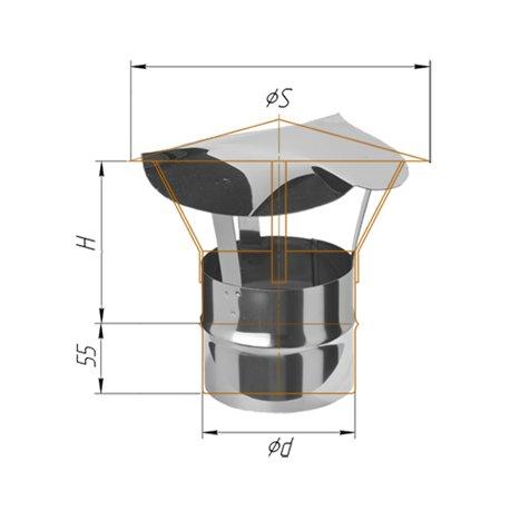зонт-Д ф120 н.430/0,5мм
