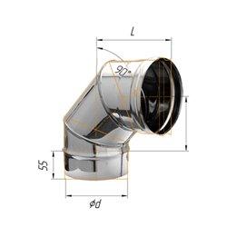колено угол 90гр ф150 н.430/0,8мм