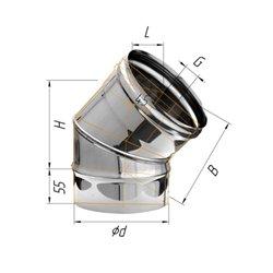 колено угол 135гр ф110 н.430/0,5мм