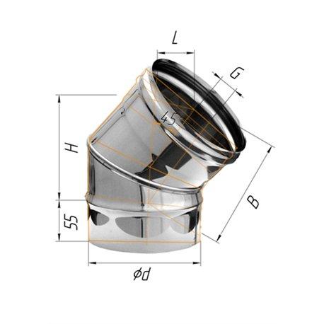 колено угол 135гр ф120 н.430/0,5мм