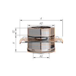 площадка монтажная ф120/200 н.430/0,8мм + оц
