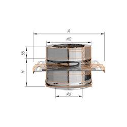 площадка монтажная ф120/200 н.439/0,8мм + оц