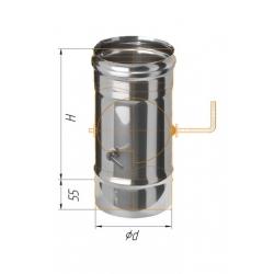 шибер поворотный ф120 н.430/0,5мм