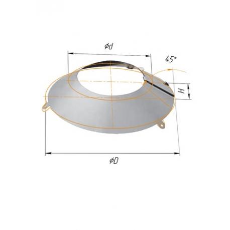 фланец ф200-210 н.430/0,5мм