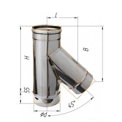 тройник-К 135гр ф120 н.430/0,5мм