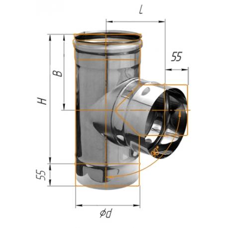 тройник-Д 90гр ф120 н.430/0,5мм